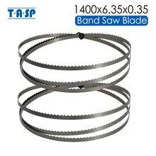 "TASP 2pcs 8 ""목재 Bandsaw 블레이드 1400x 1/4"" (6.35mm)x0.35mm 밴드 톱 목공 도구 Draper BS200A TPI 6 10 15 액세서리"