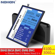 NOHONความจุสูงแบตเตอรี่BM48 BM3A BM45 BM46 BN41สำหรับXiaomi Mi Note 2 3 Redmi Note2 Note3 Note4เปลี่ยนแบตเตอรี่โทรศัพท์
