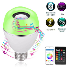 E27 RGB LED Bulb smart Lights  intelligent App Bluetooth Speaker music light bulb Remote Smart Light Dimmable Memory