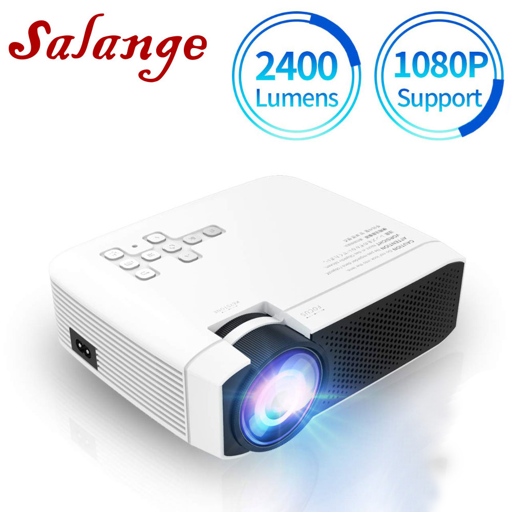 4000 Lumens Home Theater Projector Support Full HD 1080P LED Video Projector Outdoor Movie Projector Mini 3D Portable Projector US Plug Compatible with HDMI//VGA//TF//AV//USB for Gaming/&Education