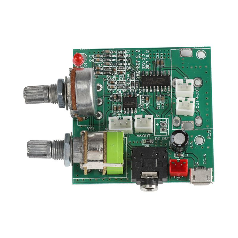 DC 5V 20W 2.1 Channel Subwoofer Amplifier Board 3D Surround Digital Stereo Amplifier AMP Board T0318 image