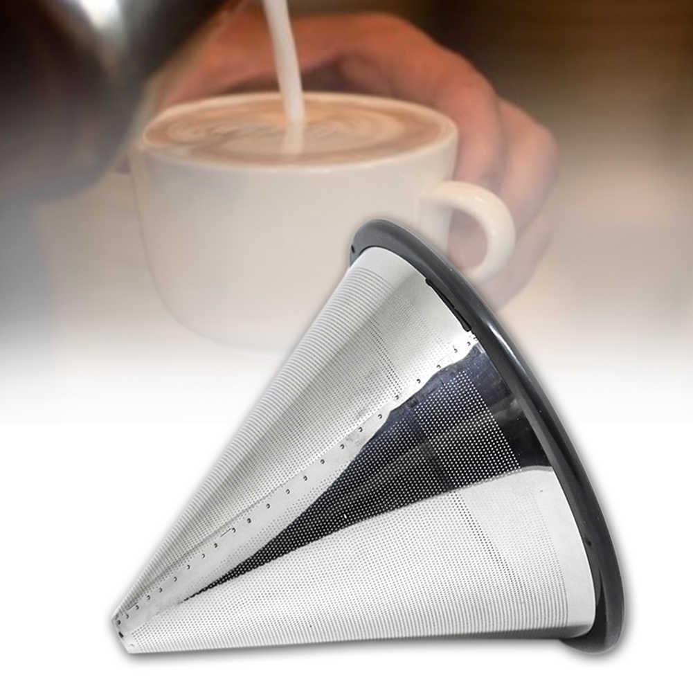 Ferramentas de Cozinha Titular Xícara de Chá Coador Filtro de café Portátil Funil Gotejador Acessórios de Malha de Aço Inoxidável Reutilizável Despeje Sobre