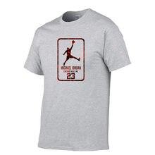 100% algodão de verão dos homens camiseta t jordan 23 impressão masculina t-shirts qualidade superior solto hip hop marca manga curta t camisa dos homens