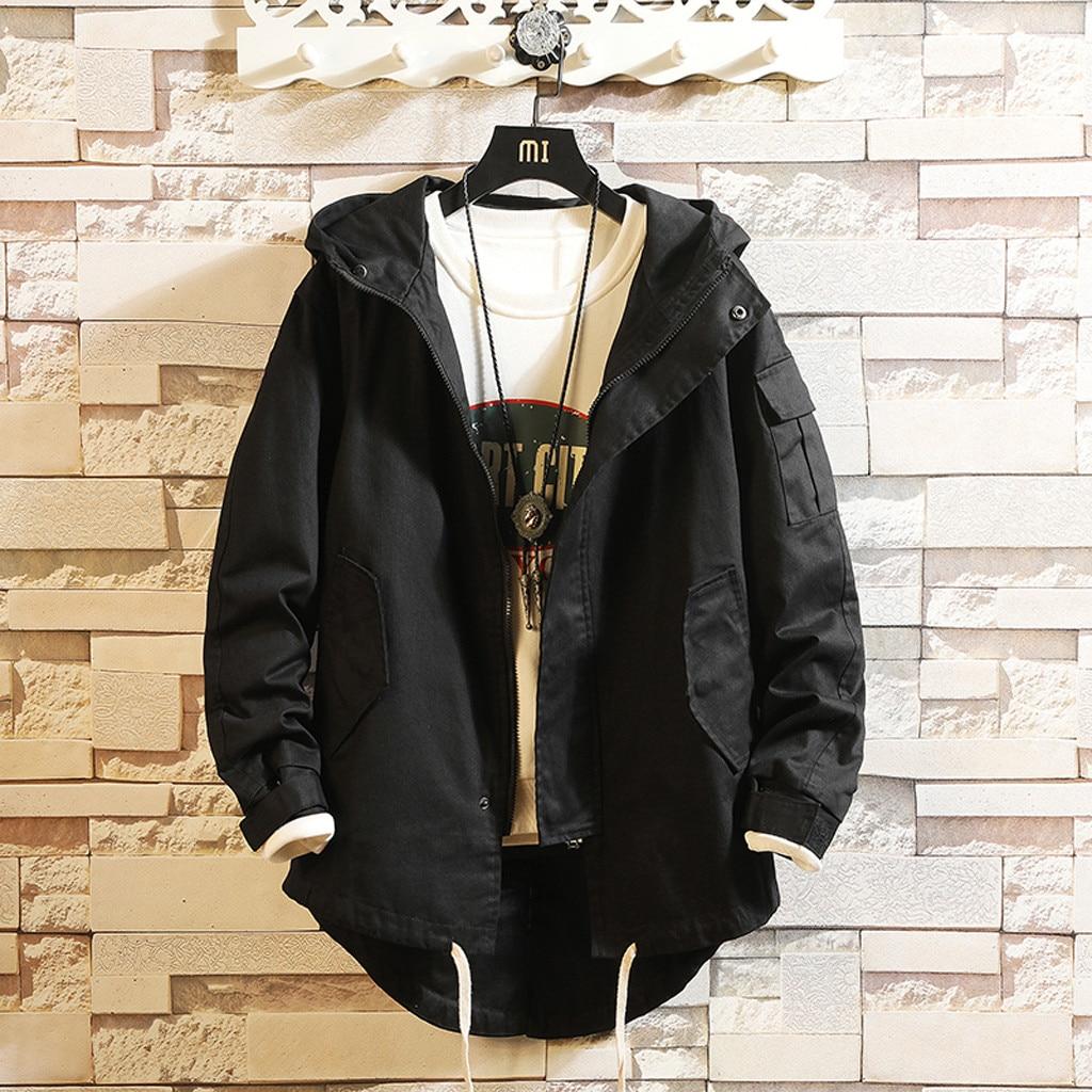 Hb7e2e0c9d8e940ca83ec1b63510452f9h - Casual Tops Plus Size  Fashion Fashion Men's Autumn Winter Solid Casual Long Sleeve Jacket Coat  wo man