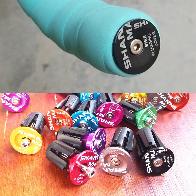 New 9 Colors Are Available Cycling Handlebar Cap Bicycle Grips Aluminum Alloy Bike Handle Bar End Plugs Bicycle Parts
