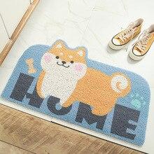 New cartoon sand scraping and dust removing doormat household wearable welcome mats for front door  doormat striped line doormat