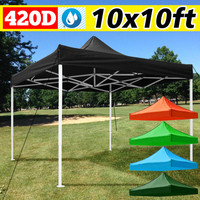 3X3M 420D Sun Shelter Oxford Canopy Sunshade Protection Outdoor Canopy Garden Patio Pool Shade Sail Awning Camping Shade Cloth