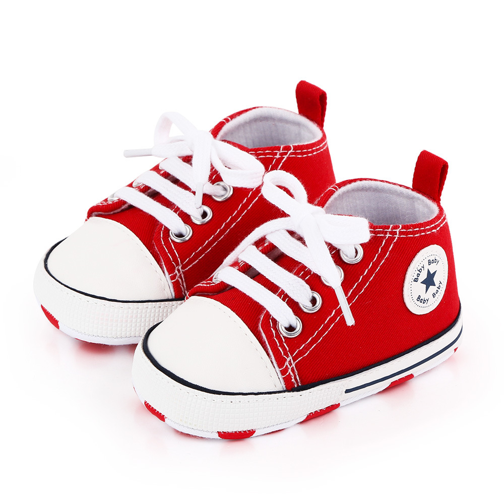 Baby Canvas Classic Sneakers Newborn Print Star Sports Baby Boys Girls First Walkers Shoes Infant Toddler Anti-slip Baby Shoes 6