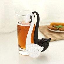 2 цвета креативный чай в форме лебедя для заварки экологически чистый пластик элегантная чайная сеточка для заваривания, сосуд для питья