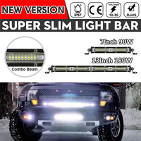 "7""/13"" LED Work Lights Super Slim Single Row Spotlight Bar 6000K Spot Flood Combo Beam|Light Bar/Work Light| |  -"