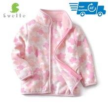 SVELTE Frühling Herbst Winter für Kinder Kinder Mädchen Nette Weiche Polar Fleece Jacke Mantel Oberbekleidung Strickjacke Kleidung Sweatshirt
