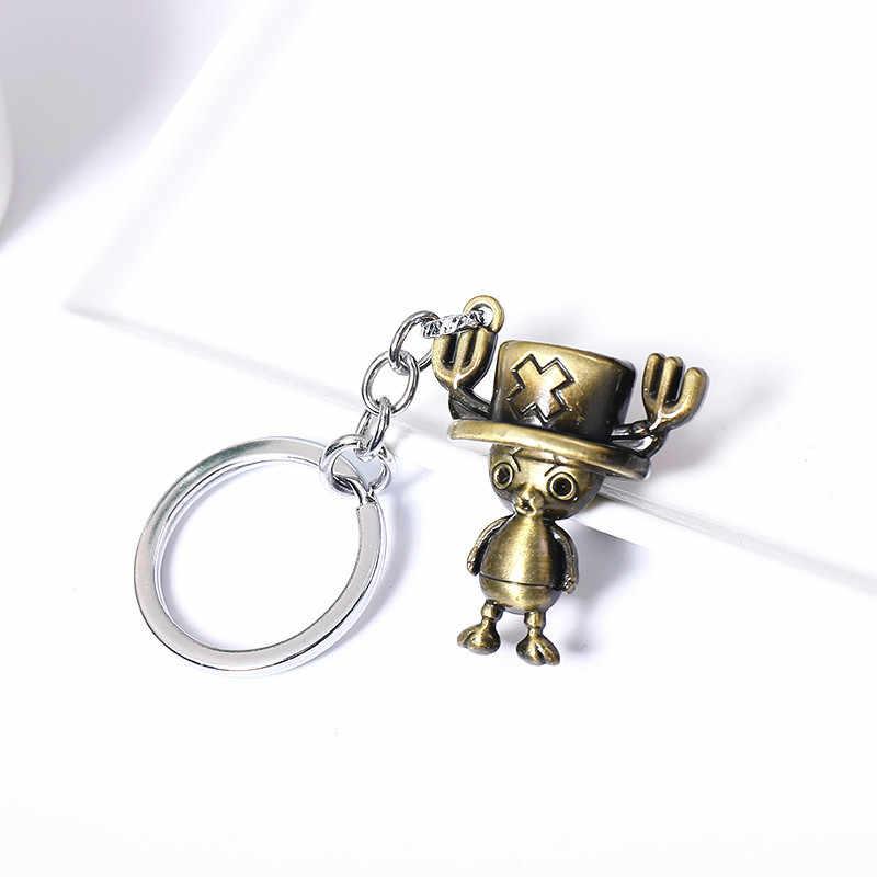 2020 สร้างสรรค์พวงกุญแจโลหะหมวก One Piece Anchor จี้รถพวงกุญแจสำหรับผู้ชายผู้หญิงเด็กของขวัญเครื่องประดับคู่ Key RING llaveros