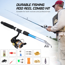 Fishing Reel Rod Combo Set Fishing Pole Spinning Reel Set with Fishing Accessories Spinning Reel Combo Lure Bait Fish Tackle hot sale free shipping spinning reel fishing reel ga8000 ga10000 13bb 5 2 1 spinning reel casting fishing reel lure tackle line