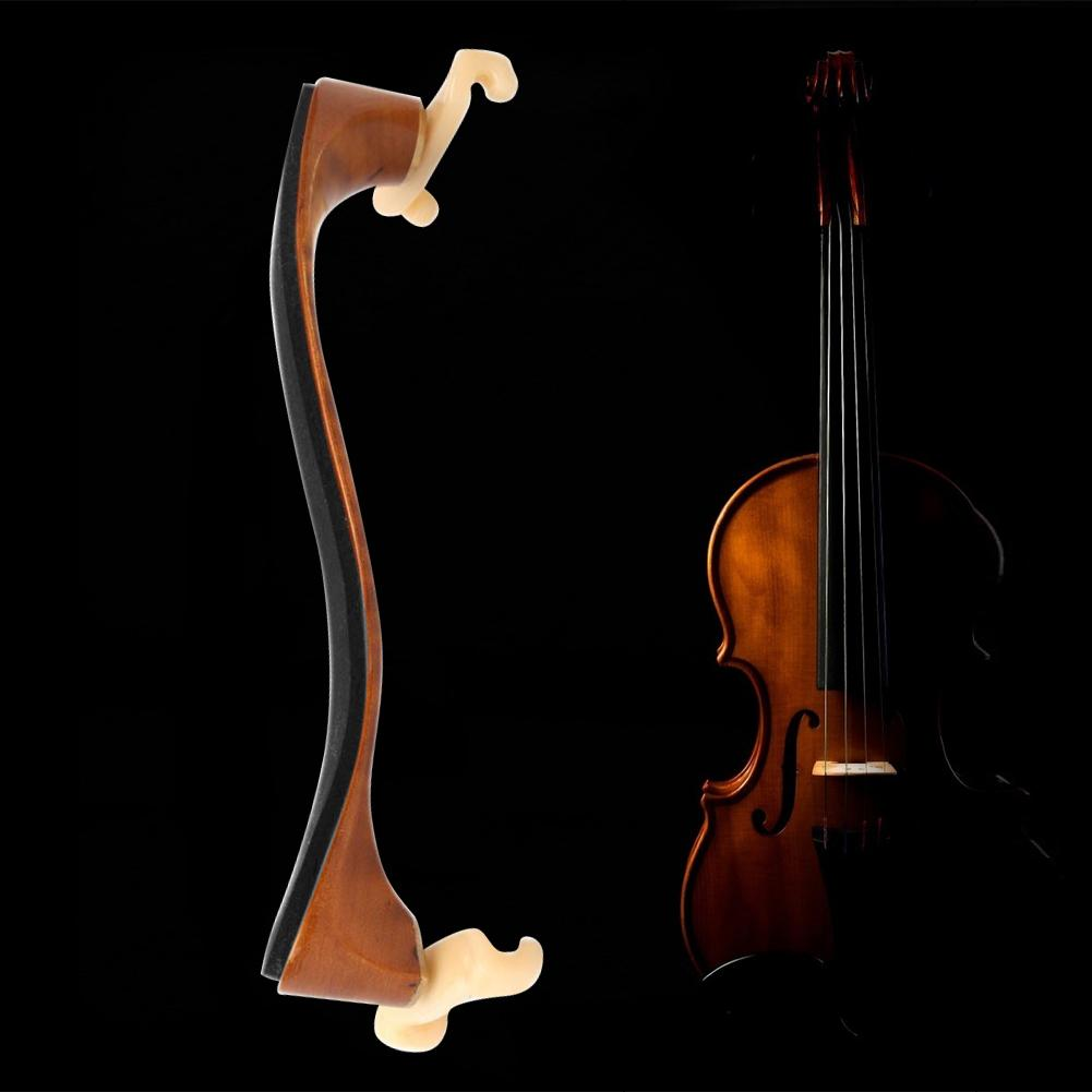 Durable Violin Shoulder Rest High-Strength Maple Wood Violin Shoulder Rest Padded for 3/4 4/4 Violin Parts Accessories