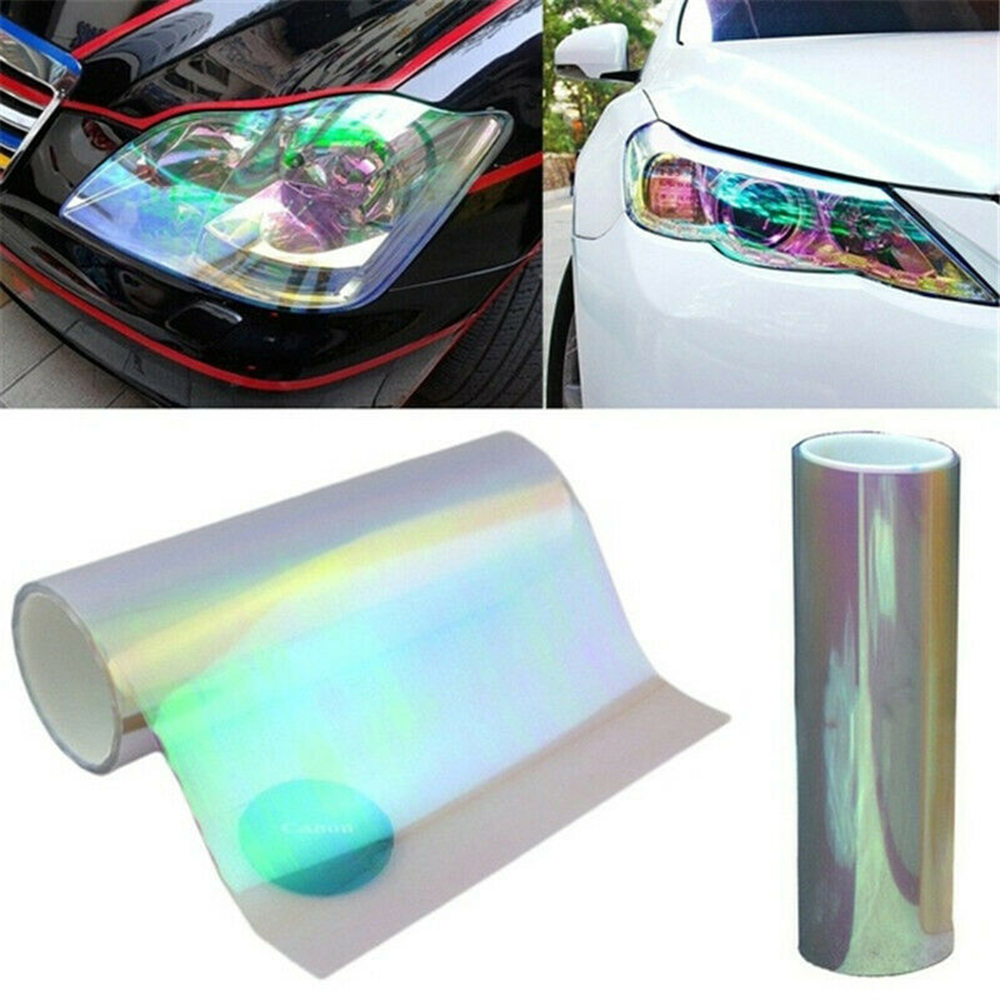 30cm x 100cm Chameleon Car Head Light Tail Lamp Tint Film Wrap Sticker Vinyl US