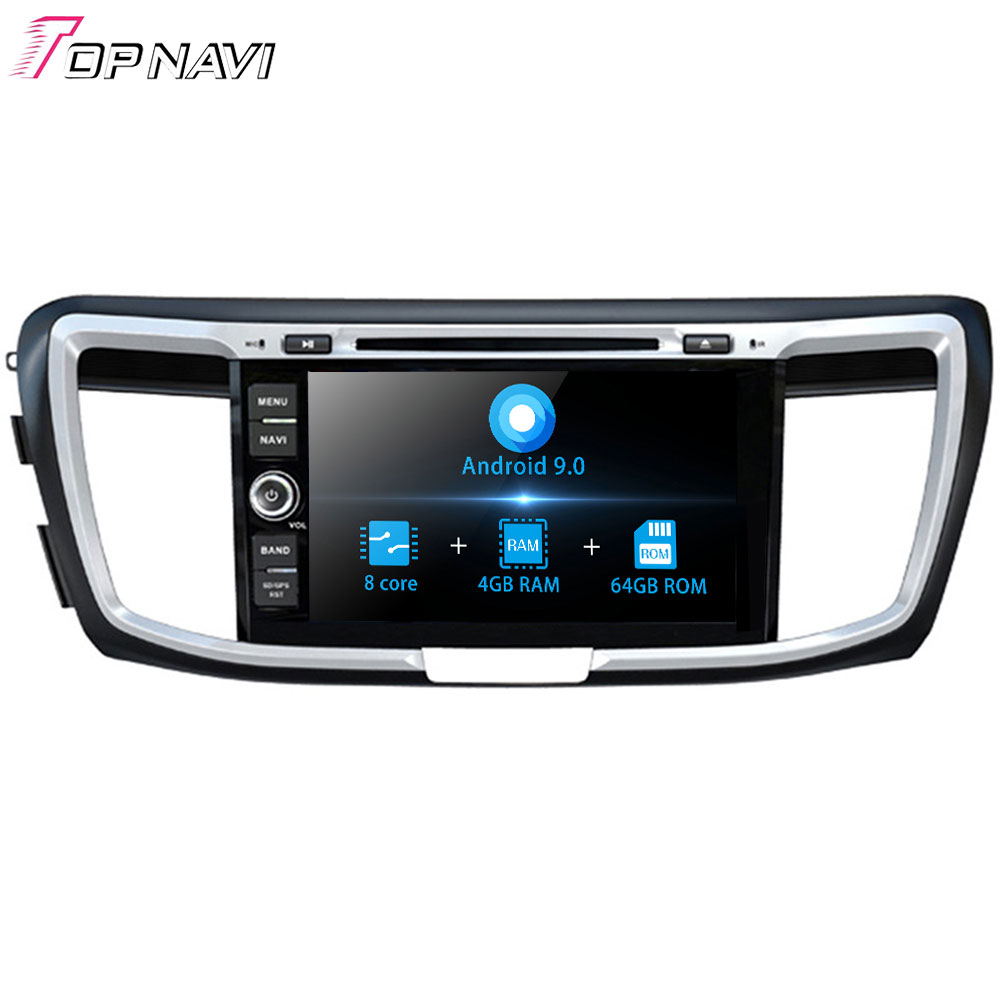 8'' Autoradio Android 9.0 Octa Core Car GPS Player For HONDA Accord 2013 - Stereo Auto Car Radio Car DVD Multimedia system <font><b>2</b></font> Din image