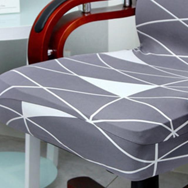 Housse de chaise en Spandex, extensible, amovible, pour siège dordinateur, Anti-salissure, tailles L, pour siège de bureau