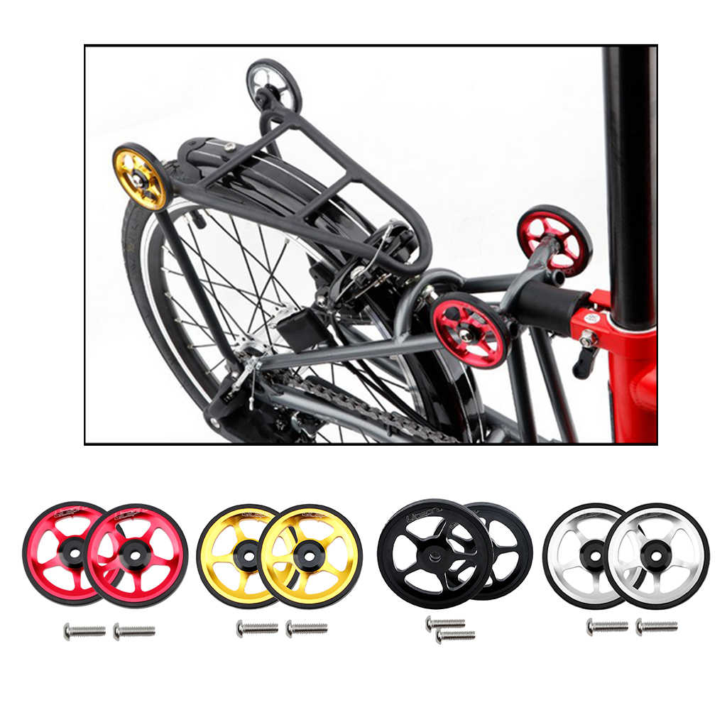Lightweight Folding Bike Easy Wheel Modified Easywheel Replacement for Brompton