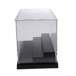 Image 3 - Acrílico expositor caso 3 passo mostrar caixa para figura de ação boneca dustproof impermeável claro crianças brinquedo armazenamento
