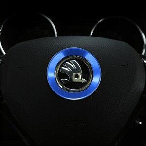 Image 4 - Étui décoratif rapide pour Skoda Octavia A 7 A7 A5 2, anneaux de direction, emblèmes, accessoires pour Skoda Octavia A, housses décoratives