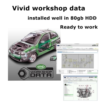 2020 New Arrival Vivid workshop data 10.2v Auto repair software Car repair manual vivid workshop data installed in 80gb hdd