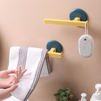 1PC gospodarstwa domowego naścienny wieszak na ręczniki w kształcie litery T wieszak na ręczniki łazienka bez paznokci wieszak na ręczniki wieszak na ręczniki uchwyty do przechowywania 40p tanie i dobre opinie monokweepjy Typ ścienny towel rack bathroom