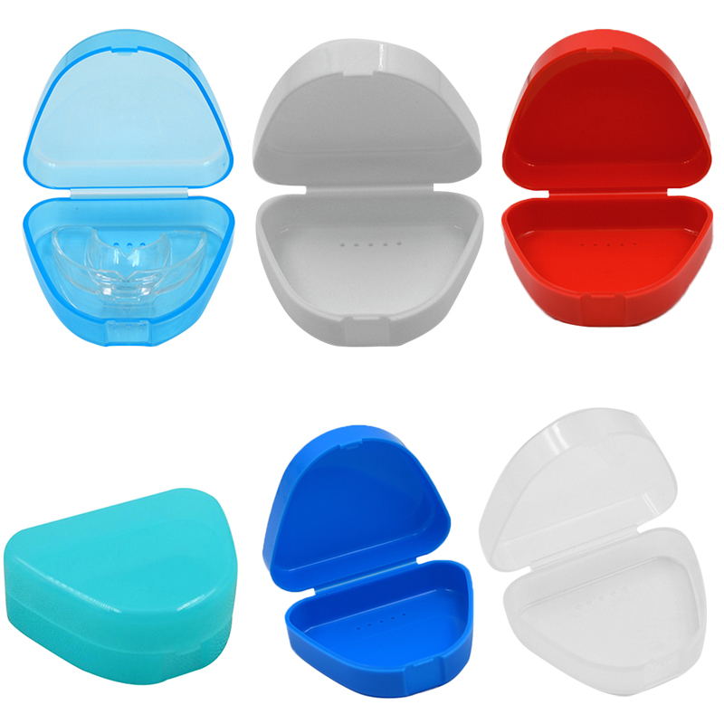 Organizer Storage-Box Container Denture-Case Holde Mouthguard Plastic 1pc False-Teeth