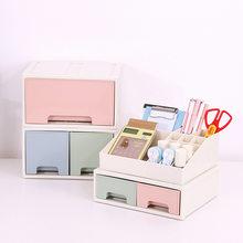 Japanese Plastic Drawer Desktop Storage Box Cabinets Debris Makeup Organizer Jewelry Case Office Stationery Drawer Boxes 1pc