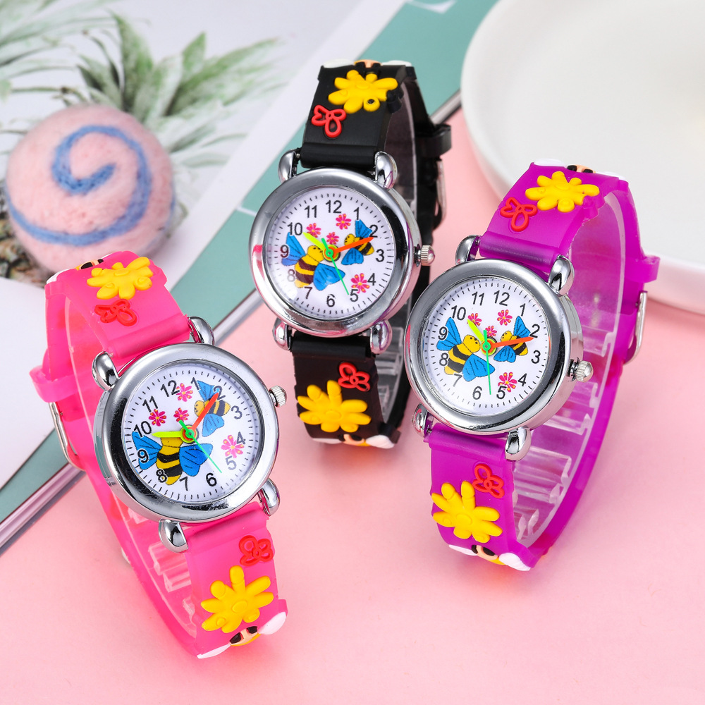 2020 New Year Gift Cartoon Bee Children Watch Good Gifts Kids Watches For Kid Girls Boys Clock Fashion Child Wristwatch Relogio