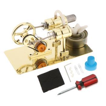 Metal Mini Steam  Stirling Engine Motor Generator Model DIY Science Toy недорого