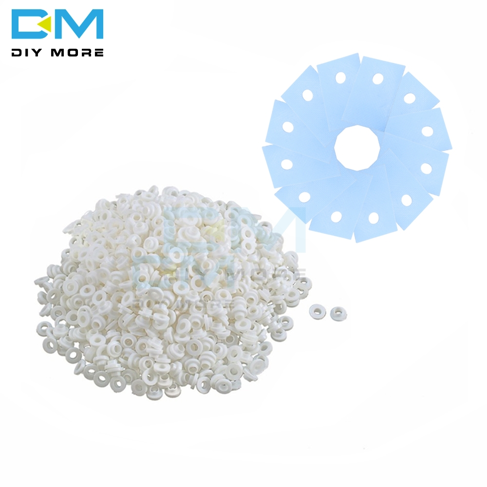 100PCS TO-220 Transistor Plastic Washer Insulation Washer + 100pcs  TO-220 Pads Silicone