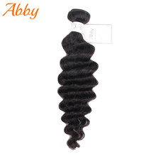 Fasci di capelli umani profondi allentati brasiliani 100% fasci di capelli umani Remy Abby estensione dei capelli umani vendita calda