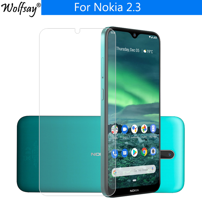 2PCS For Tempered Glass Nokia 2.3 Screen Protector Toughened Protective Glass For Nokia 2.3 Glass Nokia 2.3 Phone Film 6.2 Inch