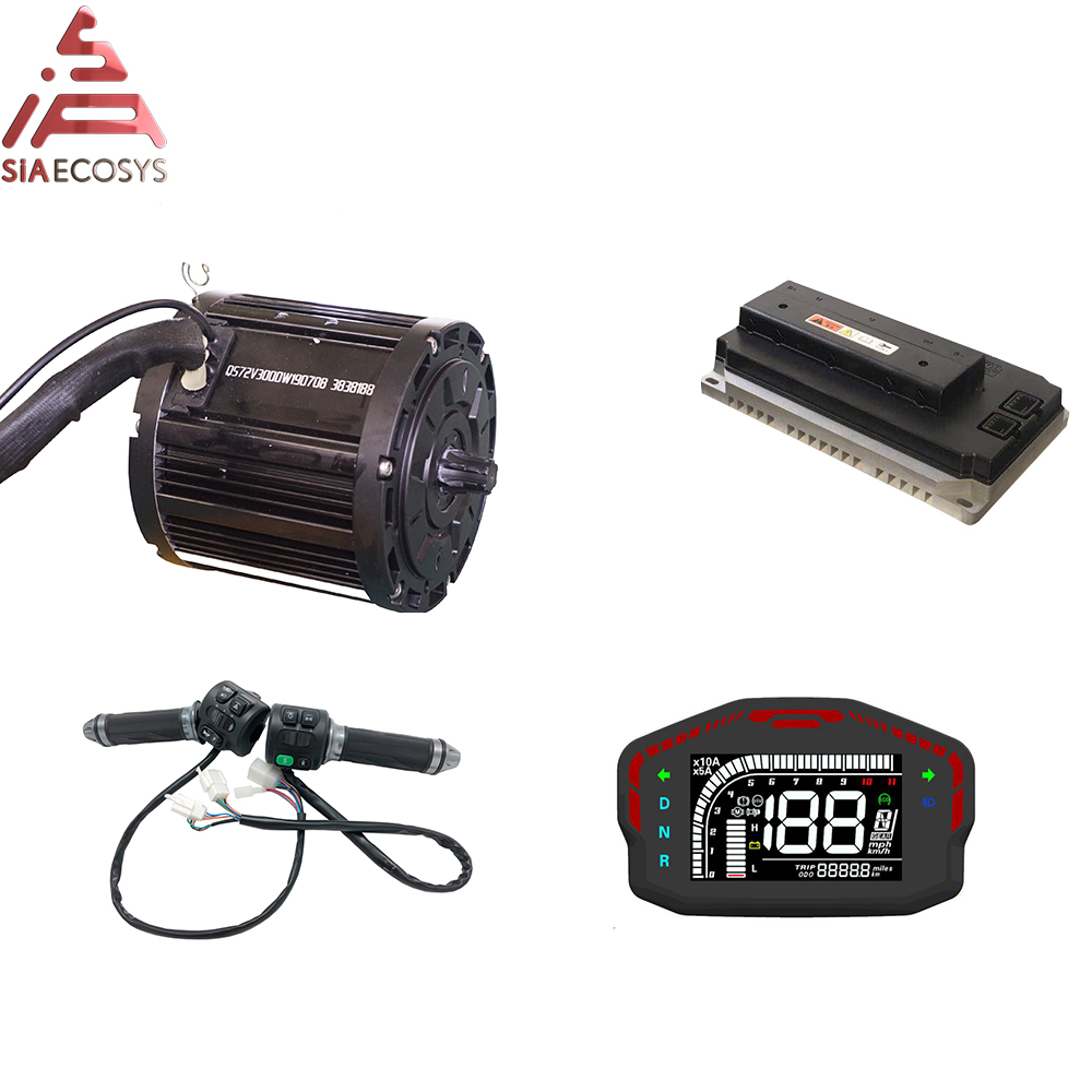 QS 138 3000W Mid Drive Motor With Powerful EM200P 72V Sine Wave Controller