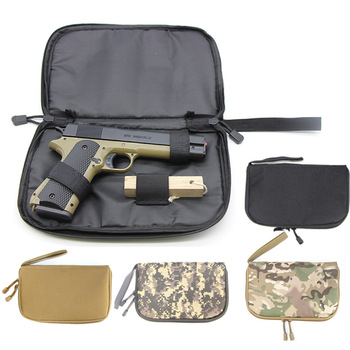 Tactical Pistol Carry Bag Gun Case Pack Holster Portable Handgun Carrier Bag Soft Protection Military Hunting Accessories 1