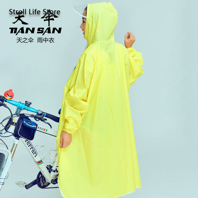 Mountain Biking Poncho Transparent Raincoat Women Plastic Suit Rain Coat Adults Yellow Waterproof Suit Bicycle Rainwear Gift 2
