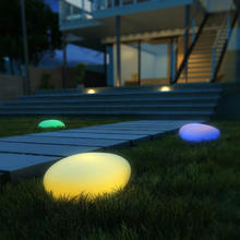 New arrival night light lamp pebble lawn garden lights waterproof