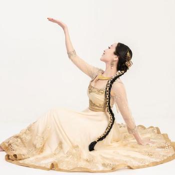 Hand-made India Pakistan – Anna Performance Dress Woman Embroideried Salwar Kameez Sets