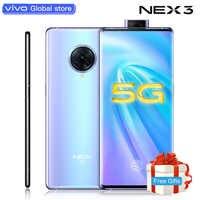 Oryginalny telefon komórkowy vivo Nex3 5G 64,0mp telefony komórkowe 4500mAh duża bateria 44W szybkie ładowanie ekran 6.89 cala inteligentny telefon