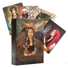 55pcs English Tarot Cards Deck Board Game Sheets Angels Ancestors Oracle Guidance Divination Fate For Party Playing Card Games(China)