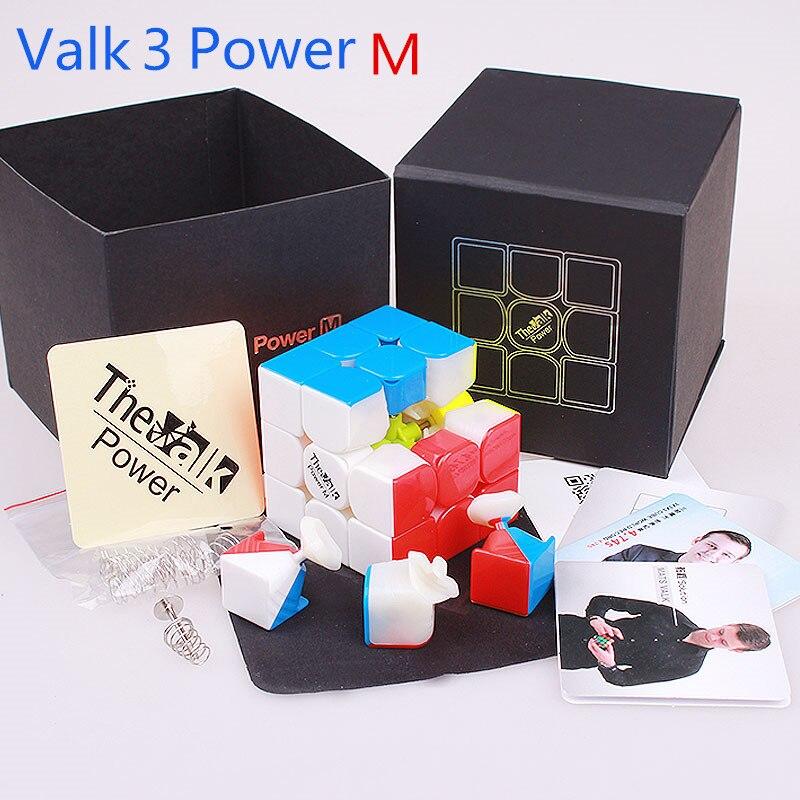 Poder M magnetic Magic Speed Cube QIYI O Valk 3 3x3x3 Profissional Valk3 Ímãs Enigma do Cubo neo Cubo Magico MOYU Brinquedo Para Crianças