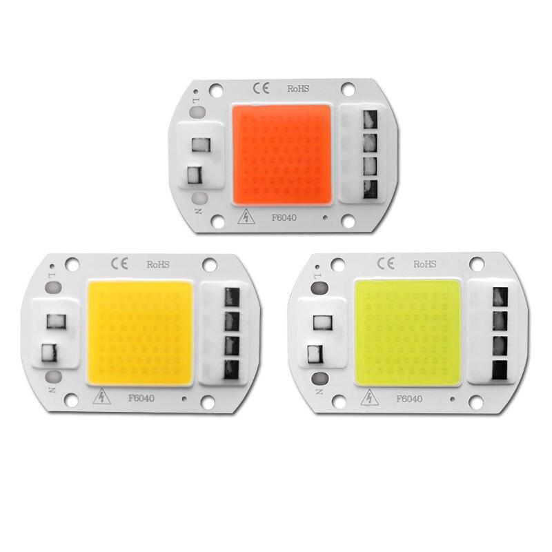 COB LED Chip 20W 30W 50W  Flood Light Bulb Chip No Need Driver AC 220V Grown Lamp Diy Spotlight Floodlight
