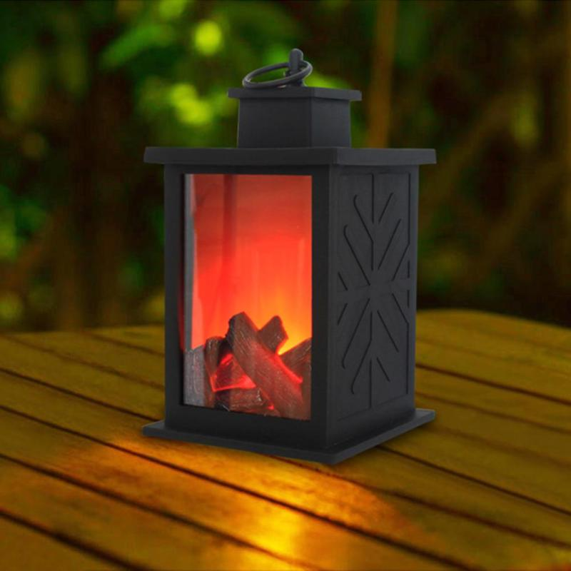 Flame Lantern LED Light Plastic Delicate Originality Long Life Simulated Fireplace Battery Xmas Halloween Outdoor Decoration