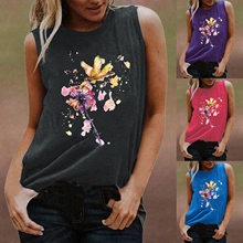 Summer Sleeveless Printed Vest Street Sports Casual Loose Tops Personalized Oil Painting Printed T-shirt Unisex T-shirt Tops