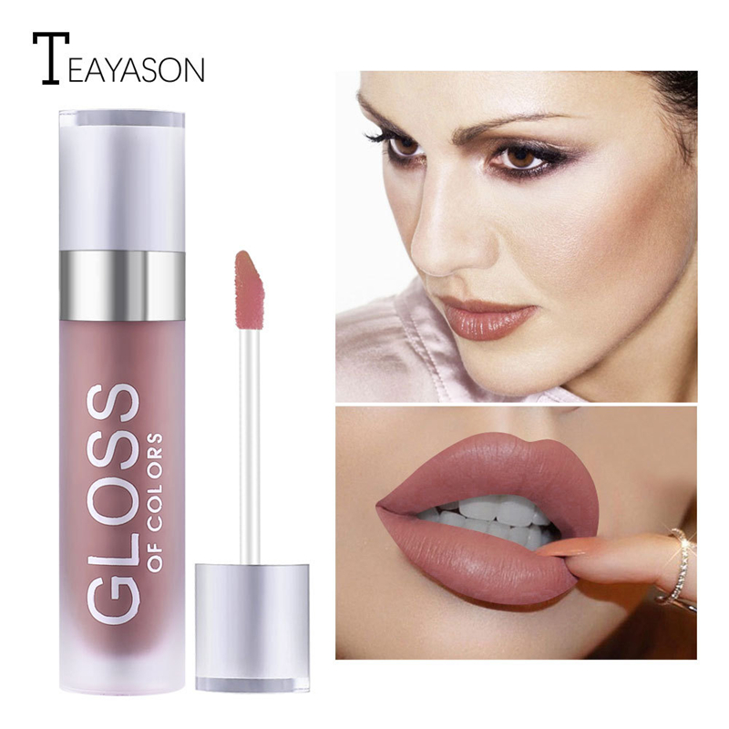 15 Colors Long Lasting Matte Lip Gloss Waterproof Lipgloss Moisturizer Makeup Liquid Lipstick Red Nude Chocolate Color lip Batom in Lip Gloss from Beauty Health