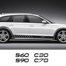 Für Volvo S60 XC90 V40 V50 V60 S90 V90 XC60 XC40 AWD T6 C30 C70 S40 S80 V70 XC70 Auto tür Side Stripes Aufkleber Auto Zubehör