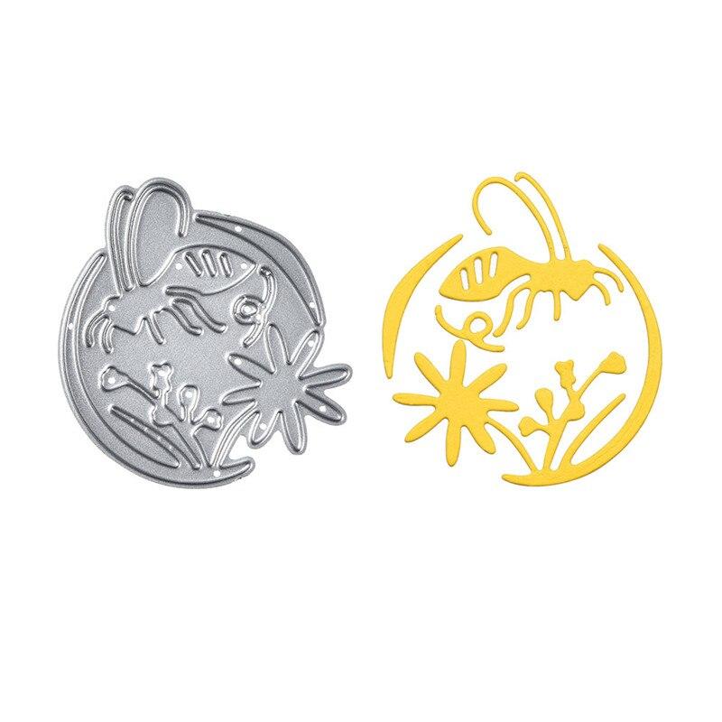 Yaminnio jardín abeja Metal troquelado molde Linda decoración Diecut álbum de recortes papel artesanía cuchillo molde hoja perforadora troquel