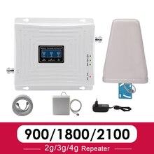 Walokcon 2g 3g 4g סלולארי אותות בוסטרים 900 1800 2100 GSM WCDMA UMTS LTE משחזר נייד 900/1800/2100mhz מגבר 4G LTE