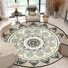 Богемный этнический Мандала Круглый пол ковер мягкий классический геометрический цветок диван ковер Европа ретро большой площади для гостиной