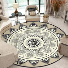 Bohemia Ethnic Mandala Round Floor Carpet Soft Classic Geometric Flower Sofa Rug